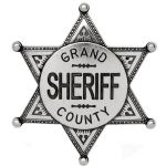 Grand County Sheriff Badge Silver Finish